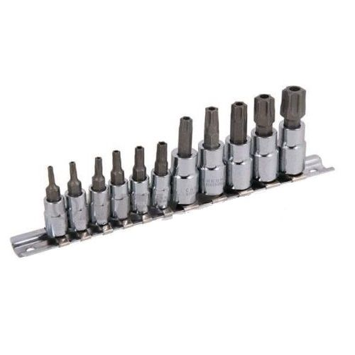 11pc Torx Bit Socket Set T10 to T60 Tamper Proof Neilsen CT0925